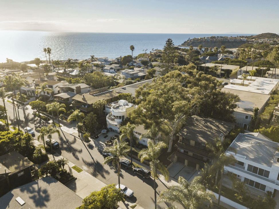 Aerial View Of 135 Crescent Bay And Laguna Beach Coastline