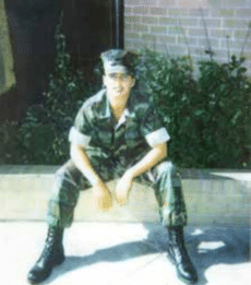 Old Photograph Of Michele Harrington In The Marine Corps